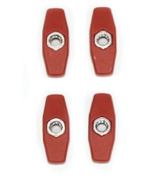 Red 2 Lobe Knob with M6 Nut x 4