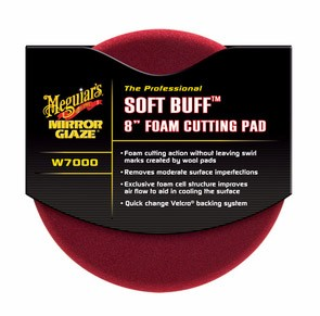 Meguiar´s Softbuff Foam Cutting Pad rød